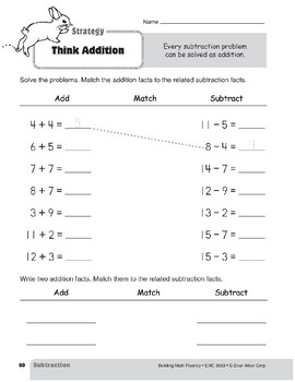 Subtraction Strategies, Gr. 1: Think Addition