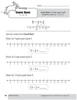 Subtraction Strategies, Grade 1: Count Back -1, -2, -3