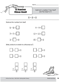 Subtraction Strategies, Grade 2: A Number Minus Itself