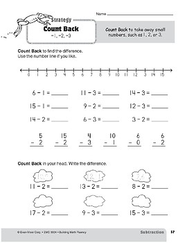 Subtraction Strategies, Grade 2: Count Back