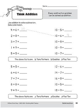 Subtraction Strategies, Grade 2: Think Addition