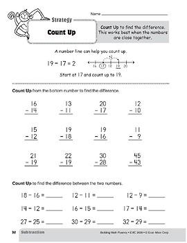 Subtraction Strategies, Grade 3: Count Up