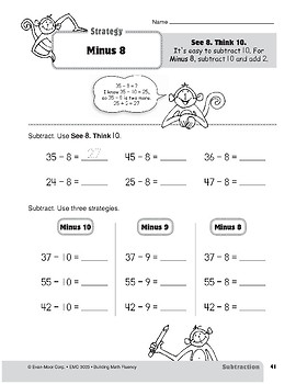 Subtraction Strategies, Grade 3: Minus 8