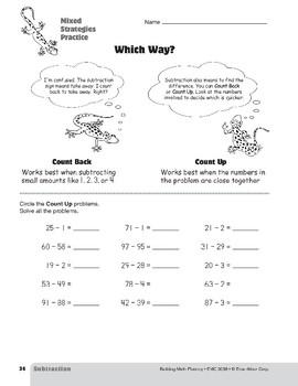 Subtraction Strategies, Grades 4-6+: Mixed Strategies Practice
