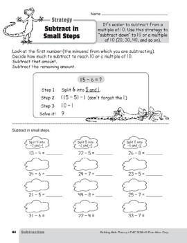 Subtraction Strategies, Grades 4-6+: Subtract in Small Steps