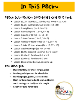 Subtraction Strategies Mega-Pack