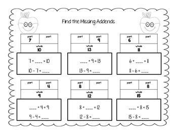Subtraction Strategies Practice Sheets