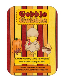 Subtraction Strategies- Using Doubles to Subtract- Turkey Theme