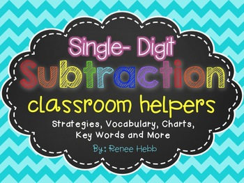 Subtraction Strategies & Vocabulary Posters