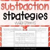 Subtraction Strategies Worksheets