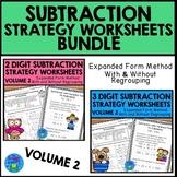 Subtraction Strategies Worksheets - Expanded Form Bundle Vol. 2