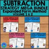 Subtraction Strategies Worksheets - Expanded Form Mega Bundle