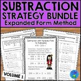 Subtraction Strategies Worksheets - Expanded Form Method Bundle Vol. 1