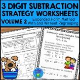 3 Digit Subtraction Strategies Worksheets - Expanded Form Method Vol. 2