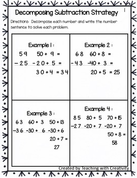 Subtraction Strategies for Common Core