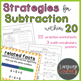 Subtraction Strategies within 20- 1st Grade