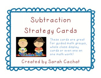 Subtraction Strategy Cards for Fact Fluency