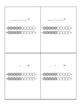 Subtraction Strategy Cards- Math