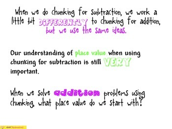 Subtraction Strategy Chunking
