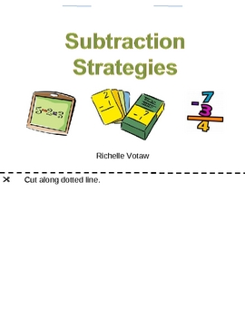 Subtraction Strategy Folding book