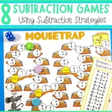 Subtraction Strategy Games - Count Backs, Using Doubles, Subtracting 9 and 10