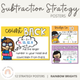 Subtraction Strategy Posters {Rainbow Theme}