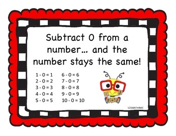 Math Facts - Subtraction Strategies - Signs/Posters  - K.OA.5 & 1.OA.6