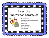 Math Facts - Subtraction Strategies - Signs/Posters  - K.O