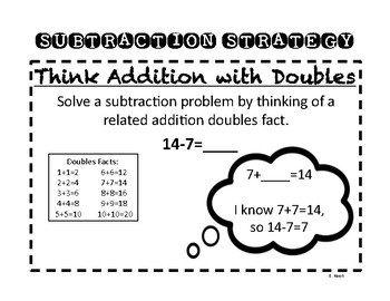 Subtraction Strategy: Think Addition with Doubles