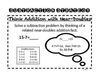 Subtraction Strategy: Think Addition with Near Doubles