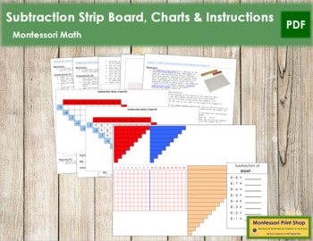 Subtraction Strip Board, Charts & Instructions