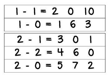 Subtraction Strips