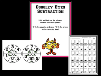 Subtraction:  Subtraction Bootcamp Monster Theme