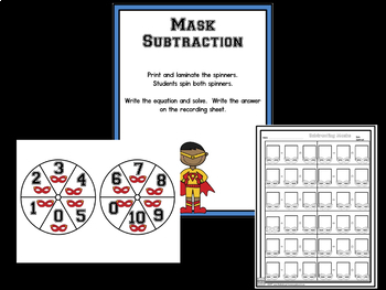 Subtraction!  Subtraction Bootcamp SUPERHERO Theme!