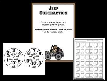 Subtraction!  Subtraction Bootcamp Safari Theme!