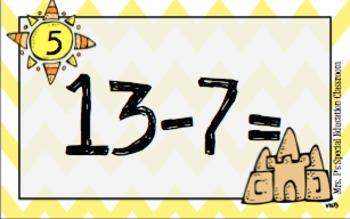 *Subtraction* Sweet Summertime Basic Math Fact Math Scoot
