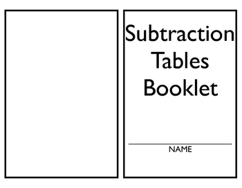 Subtraction Tables Book 1-10