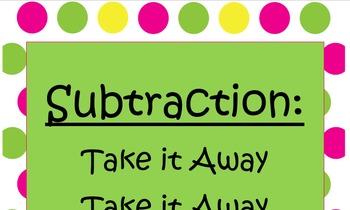 Subtraction: Take it Away *FREEBIE*
