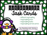 Subtraction Task Cards (with & without regrouping)