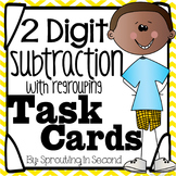 Subtraction Task Cards - 2 Digit Subtraction with Regrouping