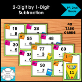 Subtraction Task Cards 2-Digit by 1-Digit Numbers
