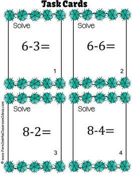 Winter Subtraction Task Cards