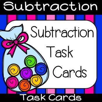 Basic Subtraction Task Cards