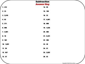 2nd Grade Subtraction Task Cards/ 3rd Grade Subtraction Task Cards