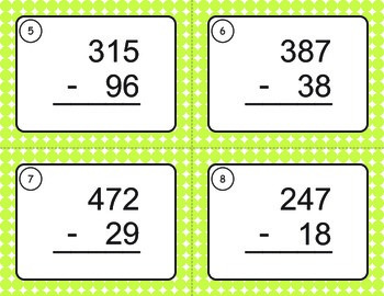 Subtraction Task Cards (3 digit by 2 digit)