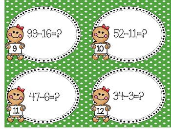 Subtraction Task Cards (Christmas Themed)