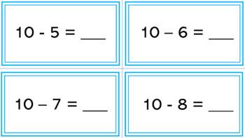 Math Station Subtraction Task Cards - Differentiated - Kindergarten - 1st Grade