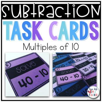 Subtraction Task Cards BUNDLE