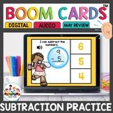 Subtraction Task Cards Boom for Kindergarten