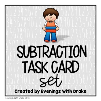 Subtraction Task Card Set With No Regrouping